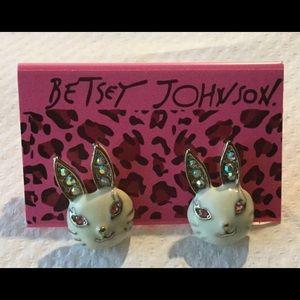 Betsey Johnson Easter Bunny Earrings